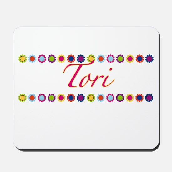 Tori with Flowers Mousepad