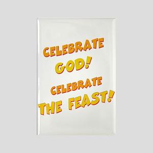Celebrate God Rectangle Magnet