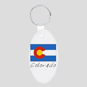 Colorado (State Flag) Aluminum Oval Keychain