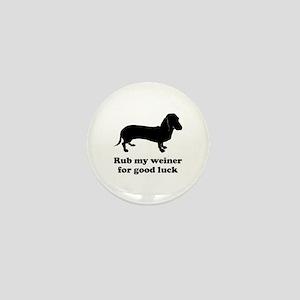 Rub my weiner Mini Button