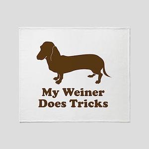 My Weiner Does Tricks Throw Blanket