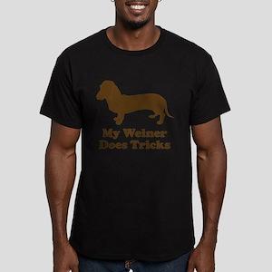 My Weiner Does Tricks Men's Fitted T-Shirt (dark)