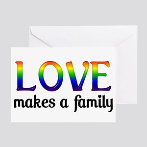 Love Makes A Family Greeting Cards (Pk of 10)