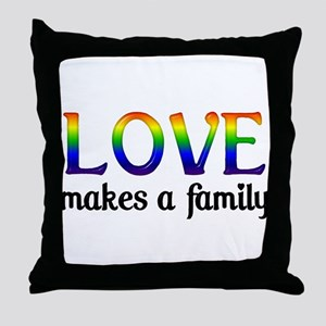 Love Makes A Family Throw Pillow