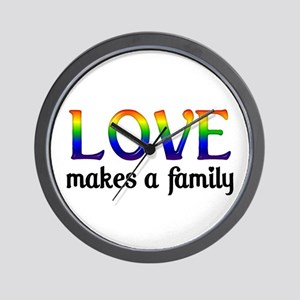 Love Makes A Family Wall Clock