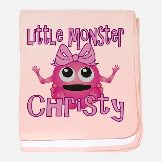 Little Monster Christy baby blanket