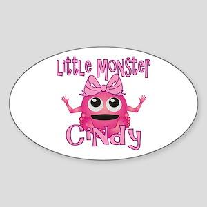 Little Monster Cindy Sticker (Oval)