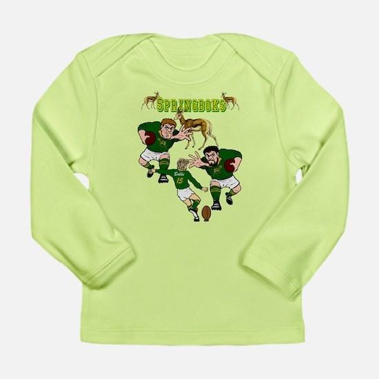 Springboks Rugby Team Long Sleeve Infant T-Shirt