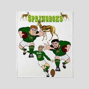 Springboks Rugby Team Throw Blanket