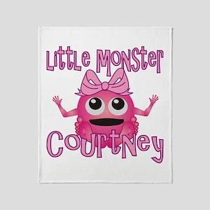 Little Monster Courtney Throw Blanket