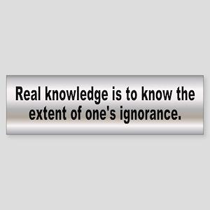 real knowledge... Bumper Sticker