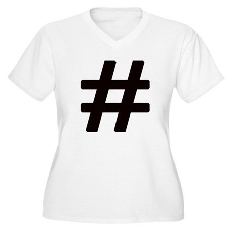 Hashtag Women's Plus Size V-Neck T-Shirt