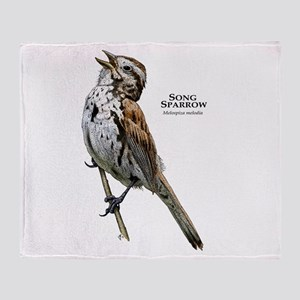 Song Sparrow Throw Blanket