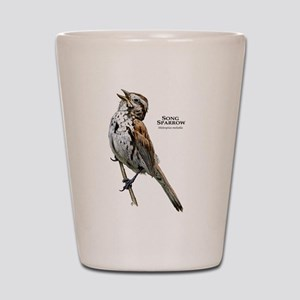 Song Sparrow Shot Glass