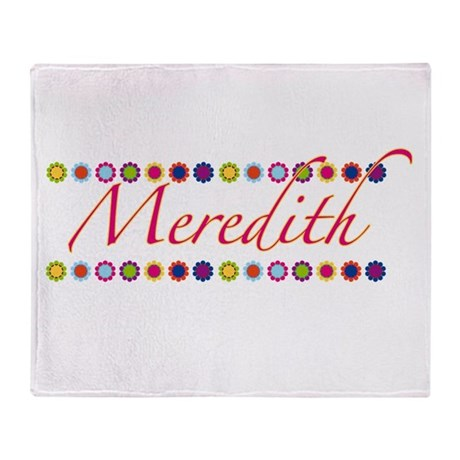 Meredith with Flowers Throw Blanket
