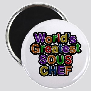 World's Greatest SOUS CHEF Round Magnet