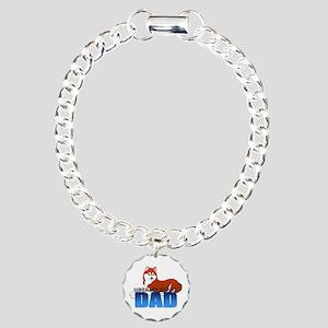 Siberian Husky Charm Bracelet, One Charm