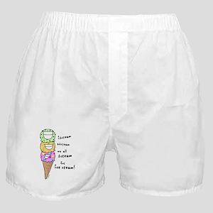 Triple Cone Ice Cream Boxer Shorts