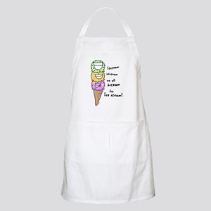 Triple Cone Ice Cream BBQ Apron