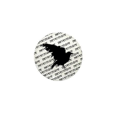 Poe Raven Mini Button