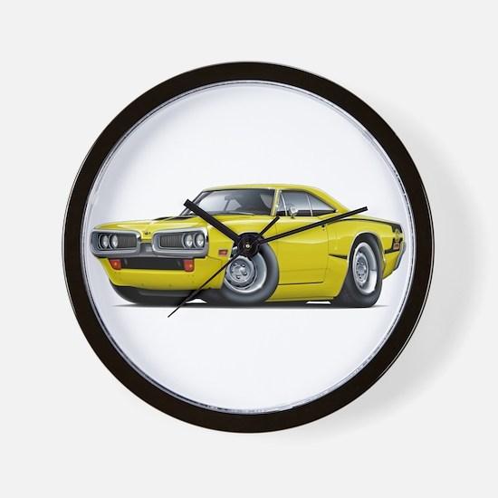 1970 Super Bee Yellow Hood Scoop Car Wall Clock