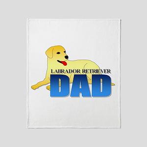 Yellow Labrador Retriever Dad Throw Blanket
