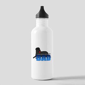 Black Labrador Retriever Dad Stainless Water Bottl