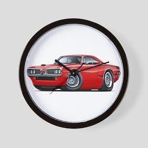 1970 Super Bee Red Car Wall Clock