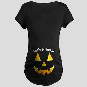 Little Pumpkin Maternity Dark T-Shirt