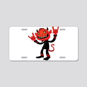 Heavy Metal Devil Aluminum License Plate