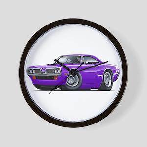 Super Bee Purple-White Hood Scoop Wall Clock