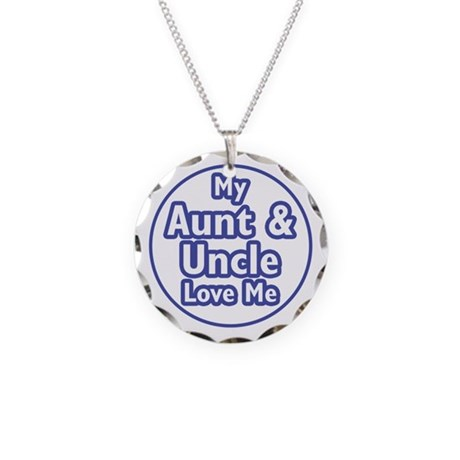Aunt and Uncle Love Me Necklace Circle Charm