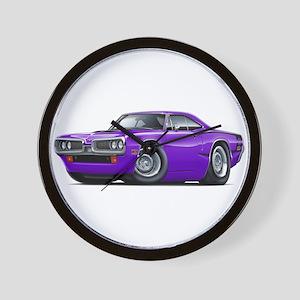 Super Bee Purple-Black Hood Scoop Wall Clock