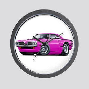 Super Bee Pink Hood Scoop Car Wall Clock