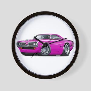 1970 Super Bee Pink Car Wall Clock