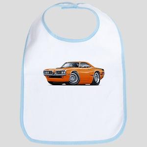 Super Bee Orange Hood Scoop Car Bib