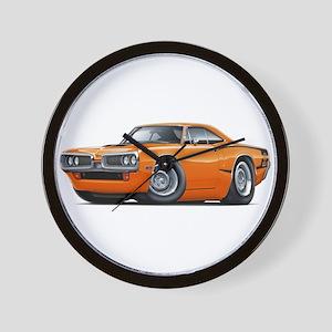 Super Bee Orange Hood Scoop Car Wall Clock