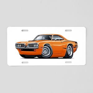 Super Bee Orange Hood Scoop Car Aluminum License P
