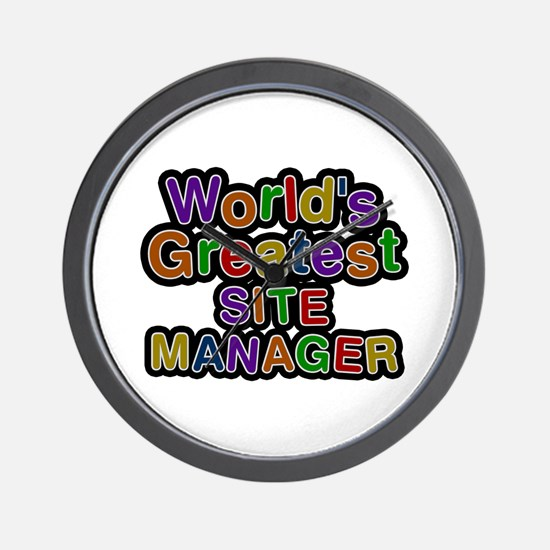 World's Greatest SITE MANAGER Wall Clock