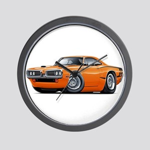 1970 Super Bee Orange Car Wall Clock
