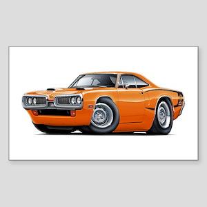 1970 Super Bee Orange Car Sticker (Rectangle)