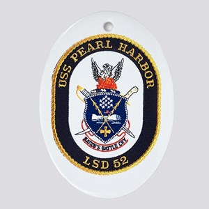 USS Pearl Harbor LSD 52 Oval Ornament