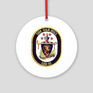 USS Oak Hill LSD 51 Ornament (Round)