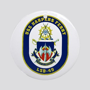 USS Harpers Ferry LSD 49 Ornament (Round)
