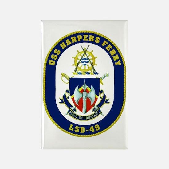 USS Harpers Ferry LSD 49 Rectangle Magnet