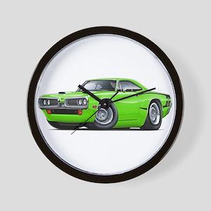 1970 Super Bee Lime Car Wall Clock