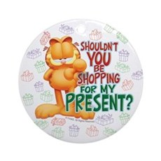 Shop For My Present? Ceramic Ornament (Round)