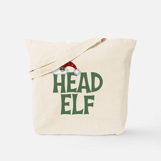 Head Elf Tote Bag