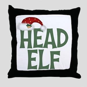 Head Elf Throw Pillow