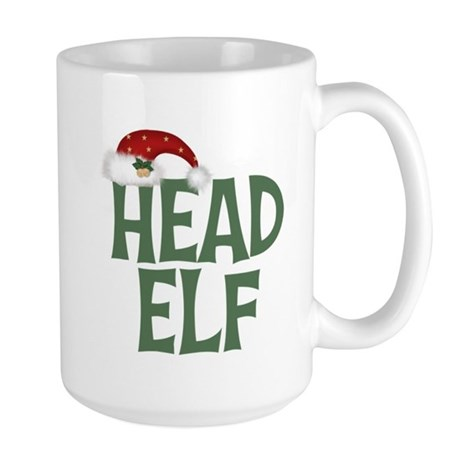 Head Elf Large Mug